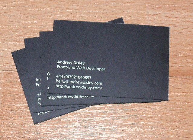 business card back - Business Card