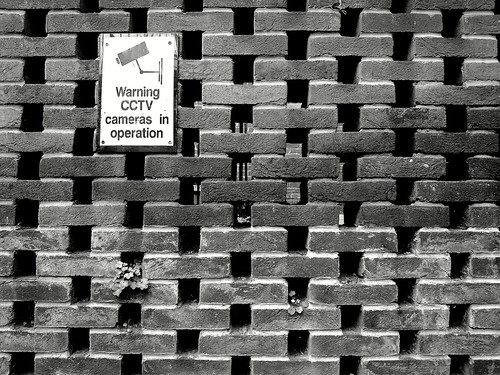 Warning - CCTV Watching This Brick Wall.
