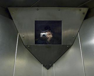 Elevator CCTV, Bentinck Court Apartments, Sneinton, Nottingham, England, 12 February 2008