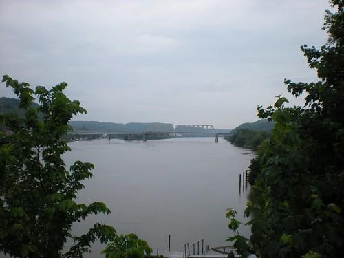 bridge trees mountains river cloudy chester wv westvirginia ohioriver chesterwv