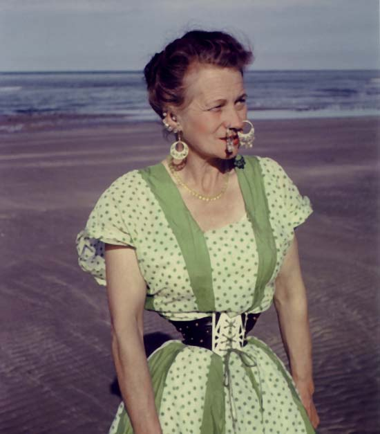 Ethel Granger on the beach