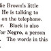 """black"" from the Charlie Brown Dictionary (1973)"