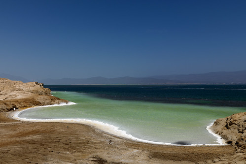 Lake Assal shore, Djibouti