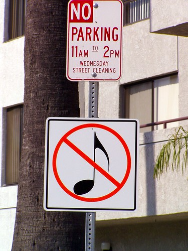 no parking no music