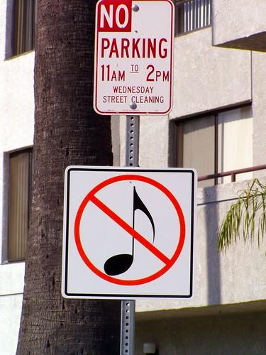 no parking no music