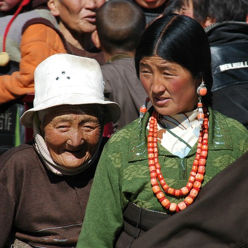 Tibetan Mother and Daughter - Xiahe, China
