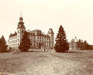 Old Main and Morrill Hall, circa 1890s