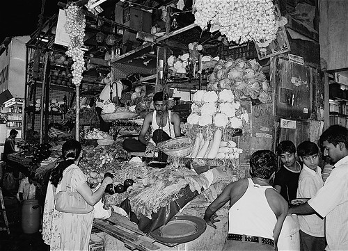 "Crawford market from the book ""Esperimento con l'India (1975)"" by Giorgio Manganelli"