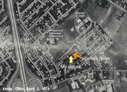 ohio 1974 path aerial warner xenia screencapture tornado arrowhead arrowwood kgaeke dcbprime