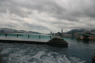 View on Victoria bay from Harbour Plaza pool