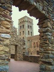 """Campanar del monestir de Sant Pere de Rodes (Bell tower of the monastery of Sant Pere de Rodes"""")"""