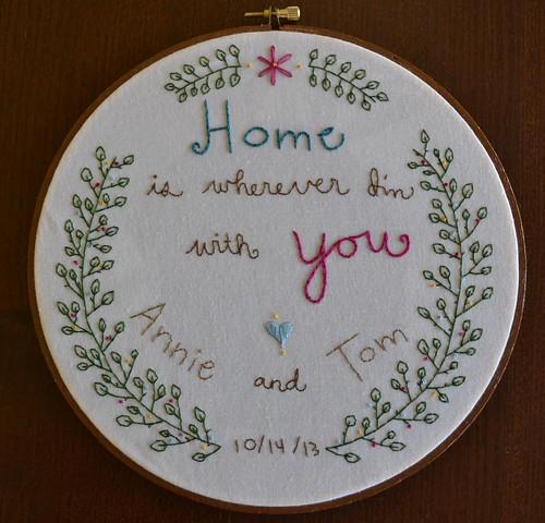 Annie & Tom's Wedding Embroidery