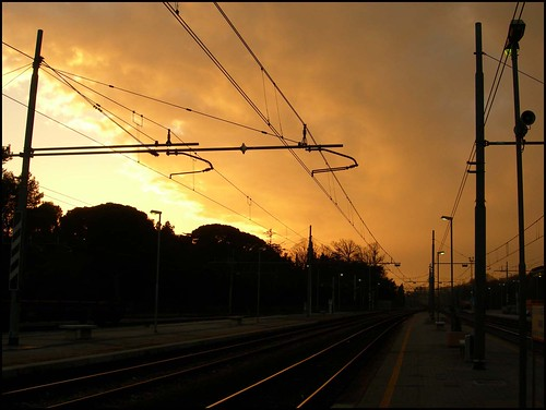 sunset station sunrise perfect photographer railway stazione pesaro binario mywinners