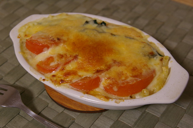 Tomato and spinach gratin | Flickr - Photo Sharing!