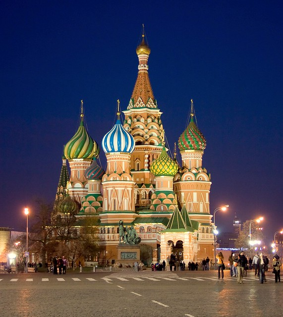 More than 56,000 views!!! Cathedral of St. Basil the Blessed, Red Square, Kremlin, Moscow, Russia, November 8, 2007