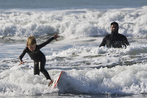 Father and son surf lesson in Morro Bay, CA 11 of 12