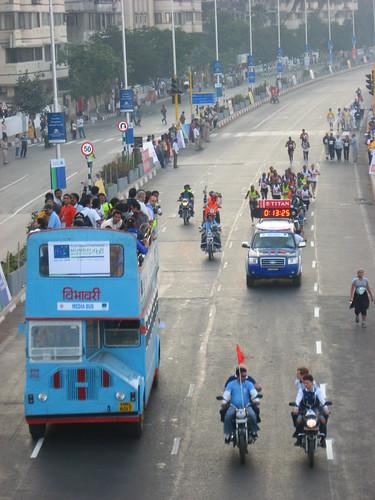 lead vehicles in marathon
