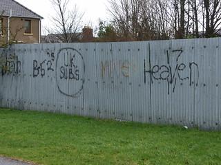 Retro graffiti in Inverness