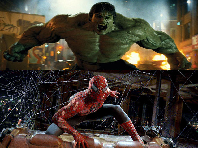 Incredible Hulk vs Spiderman Wallpaper | Flickr - Photo ...