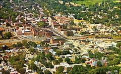 Aerial photo of Keene NH - 1960s