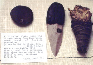 Stone tools from Australia used for circumcision and clitoridectomy