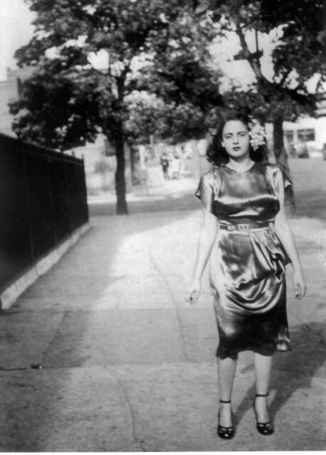 Mom 1948 - Frances Tuzzolino - in Satin Dress 40s