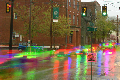 street motion color colour colors rain rainbow movement colours traffic dynamic action 4th surreal pa kinetic penn shutter harris fourth effect dynamism huntingdon rainbowcolors originalworks specularreflection harrisshutter harrisshuttereffect thiopheneguy artlegacy thsfeset reflectedheadlight