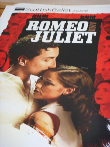 Scottish Ballet's Romeo and Juliet ballet, cover of programme