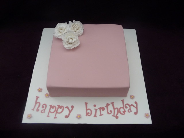 Images Of Square Birthday Cake : Pink Square Birthday Cake Explore Jessi3677 s photos on ...