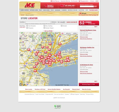 ACE Hardware Store Locator Screen 1 of 4 | Flickr - Photo ...