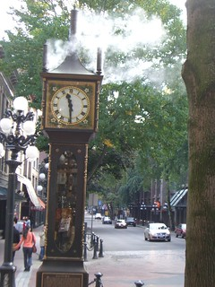 Image of Gastown Steam Clock near West End. clock vancouver gastown steamclock
