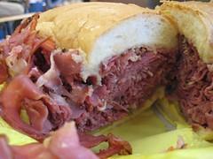 sandwich, meal, corned beef, breakfast, meat, food, dish, cuisine,