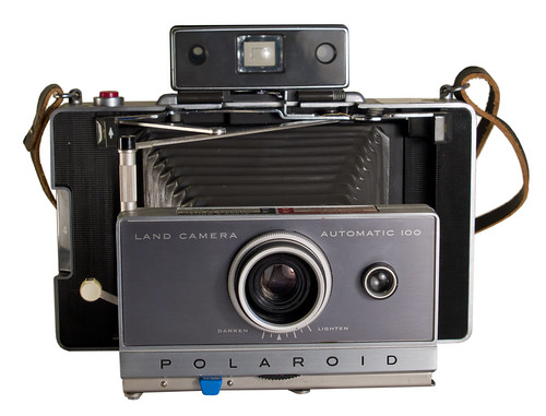 Polaroid Land Camera 100 (front; open)