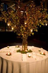 floral design, centrepiece, banquet, lighting,