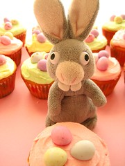 bunny with easter cupcakes by hello naomi