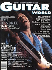 GW cover Vol. 6, No. 5 SEPTEMBER, 1985 SPECIAL JIMI HENDRIX TRIBUTE! by Doctor Noe