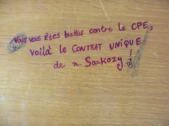 Sarkozy I, Salle 31, site Tanneurs, Tours, 23 avril 2008
