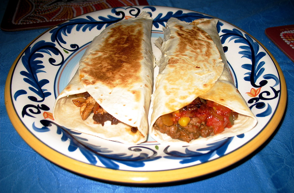Finished Burritos