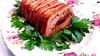 Bacon Wrapped Prune Stuffed Meatloaf by Helen M. Radics