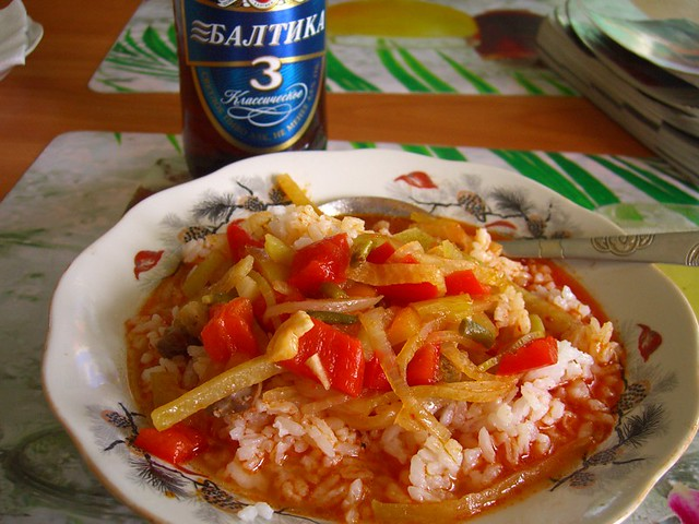 Ganfan (Veggies and Rice) - Karakol, Kyrgyzstan