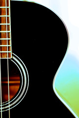 accoustic bass guitar