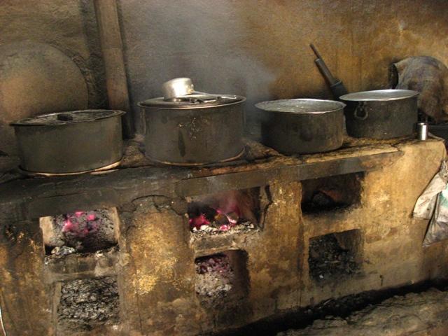 Kitchen at Kye Gompa