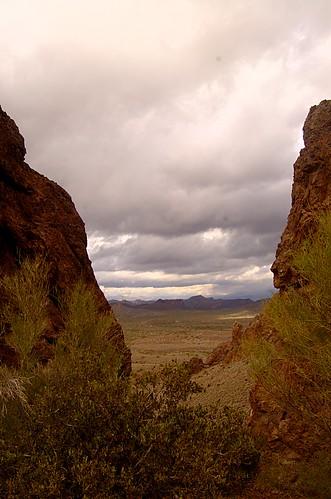 arizona mountains rain clouds desert scenic sonoran superstition