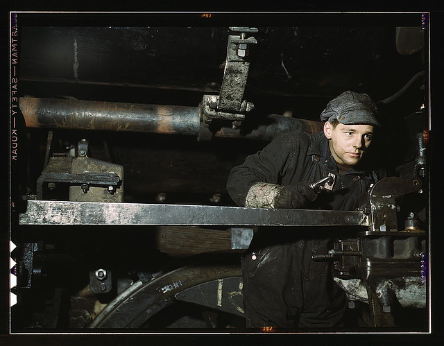 A young worker at the C & NW RR 40th Street shops, Chicago, Ill.  (LOC)
