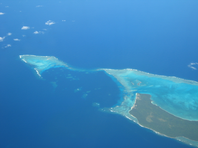 bird's eye view of Fiji islands
