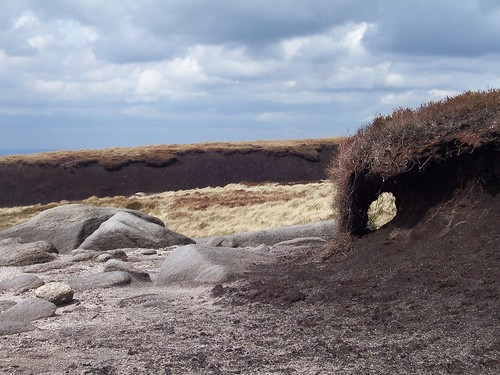 Rocks, sand, peat and grass