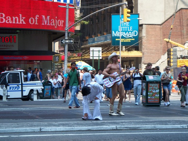 the naked cowboy and elvis
