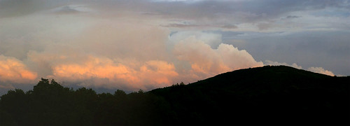 sunset panorama mountain clouds evening dusk m42 eveninglight buckmountain yashinonlens graysoncountyva