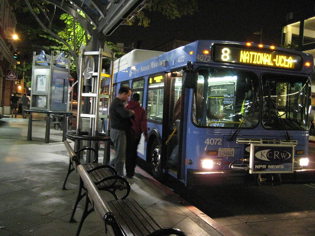 Plenty of seating and shelters - Santa Monica's Big Blue Bus
