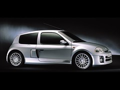 race car(0.0), model car(0.0), family car(0.0), automobile(1.0), automotive exterior(1.0), renault clio renault sport(1.0), renault clio v6 renault sport(1.0), wheel(1.0), vehicle(1.0), automotive design(1.0), subcompact car(1.0), city car(1.0), bumper(1.0), hot hatch(1.0), land vehicle(1.0), hatchback(1.0),